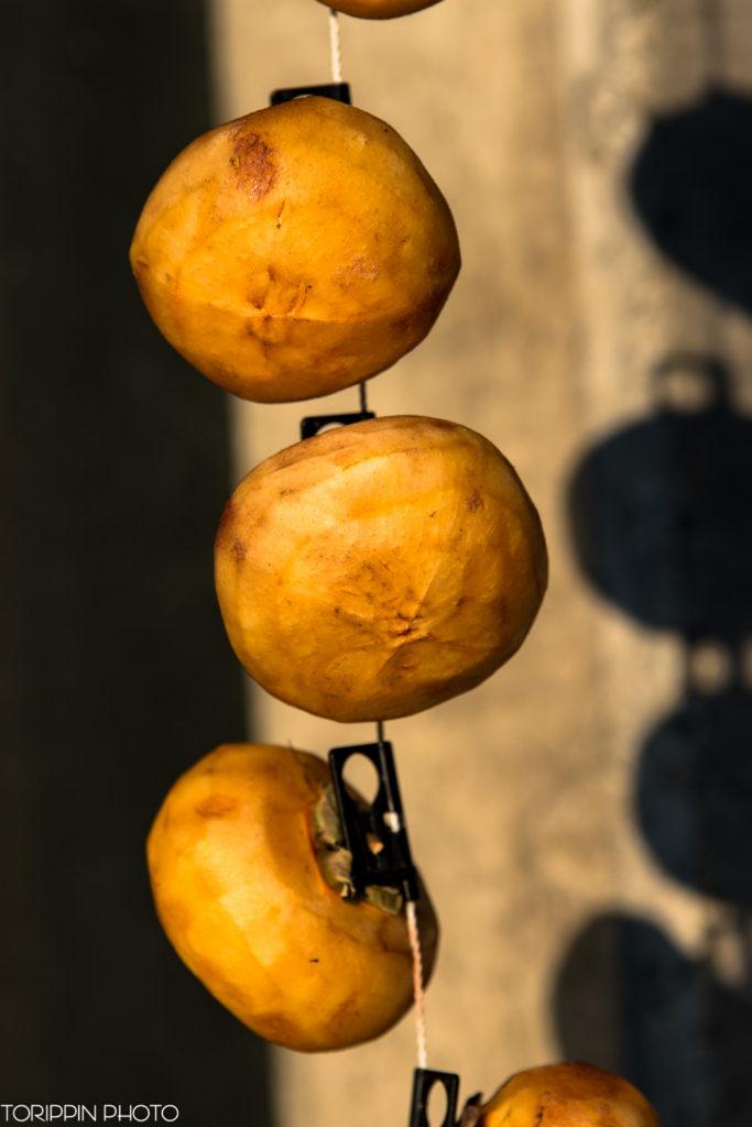 D750で撮影した干し柿