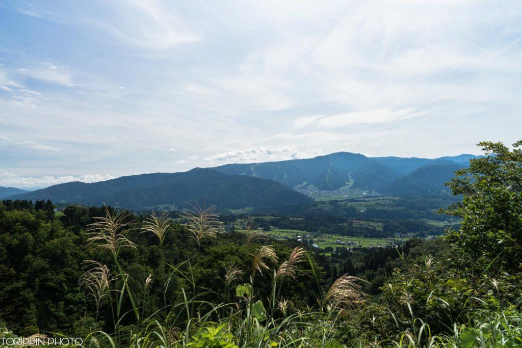 野沢温泉方面を望む景色