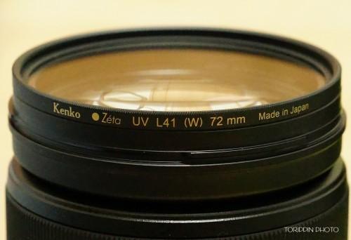 Zeta「UV L41」は薄枠なフィルターです