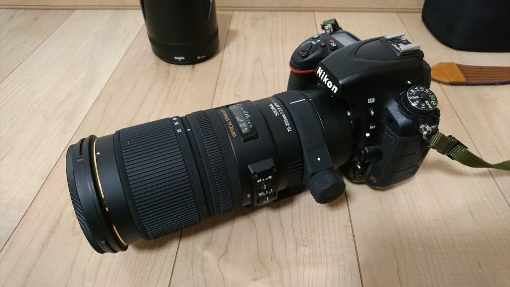D750にシグマ70-200F2.8を装着した画像