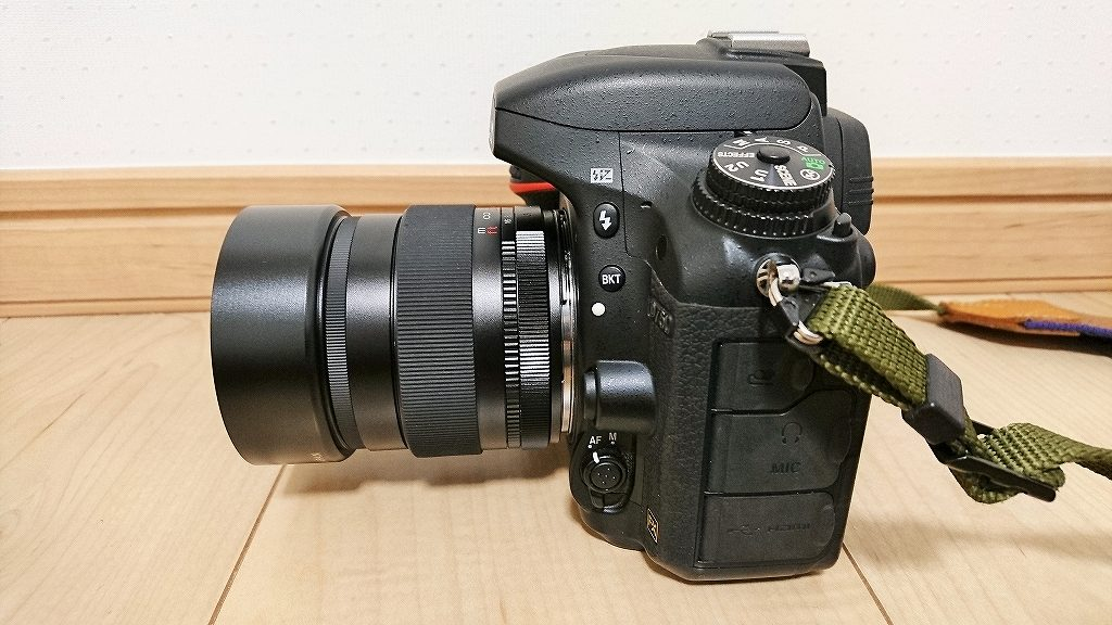 D750niフォクトレンダー NOKTON 58mm F1.4 SLIIを装着