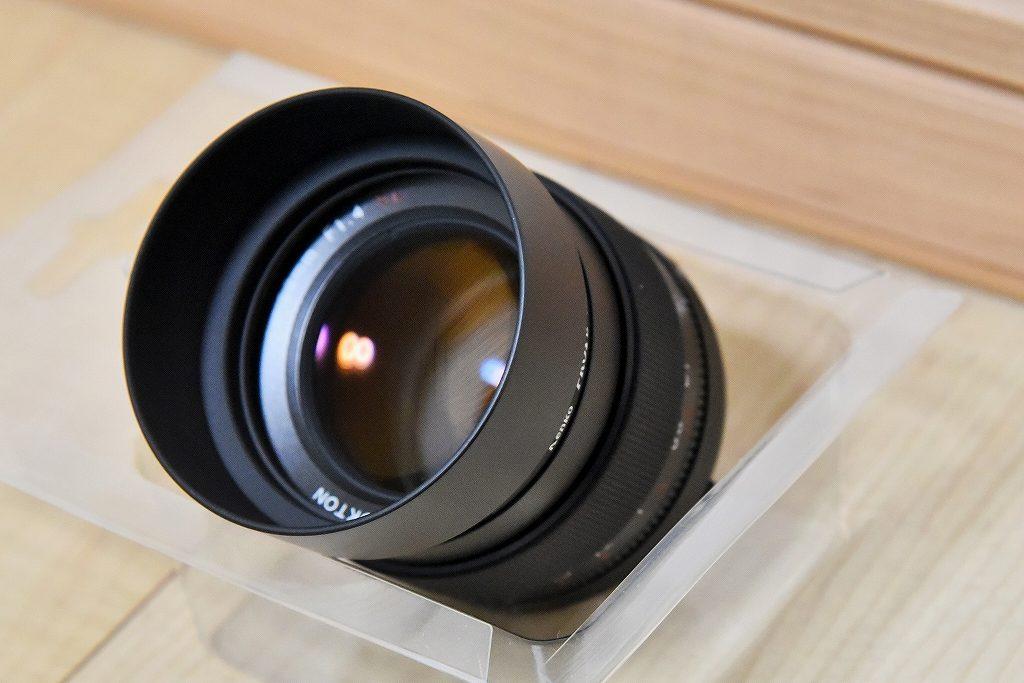 フォクトレンダー NOKTON 58mm F1.4 SLIIに安価レンズフード装着
