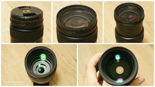 UVカットフィルターをSTFレンズに装着した画像