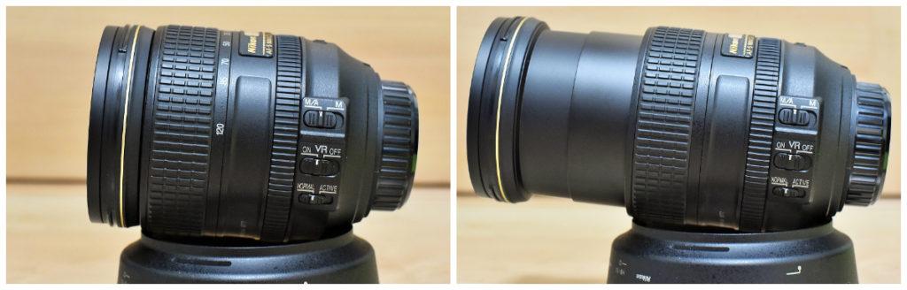 AF-S NIKKOR 24-120mm f/4G ED VR ズーム伸長